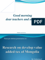 Research on Develop Value Added Tax of Mongolia [Recovered]