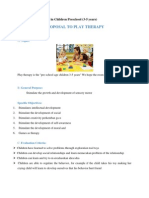 Proposal Play Therapy in Children Preschool