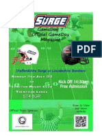 Surge v Bombers Gameday Magazine