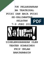 Petunjuk Pelaksanaan Lomba Teatrikal Puisi Dan Baca Puisi