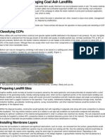 Constructing and Managing Coal Ash Landfills