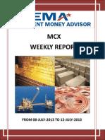 Weakly Report Mcx 08 July