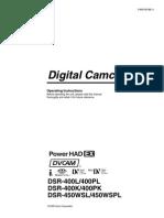 Sony DSR450 Operation Manual