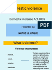 Domestic Violence Act,2005