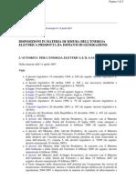 AEEG Autorita Energia Delibera 88 07 Misura Energia Elettrica Prodotta