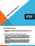 Privileged Wills