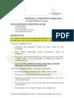 DIRETRIZ APOSTÓLICA E PROFÉTICA PARA 2011