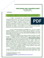 Carta Definitiva - Visão Nacional para a Consciência Cristã