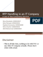 RFP Handling in IT Comapny - TCS