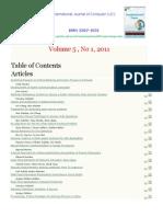 International Journal of Computer (IJC) (ISSN 2307-4523) Volume 5 No1 2011