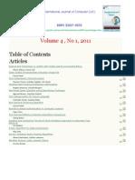 International Journal of Computer (IJC) (ISSN 2307-4523) Volume 4 No1 2011
