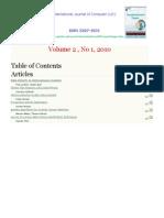 International Journal of Computer (IJC) (ISSN 2307-4523) Volume 2 No1 2010