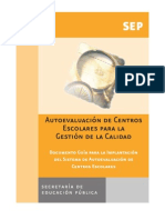 1.GUÍA PARA LA IMPLANTACIÓN DEL SISTEMA DE AUTOEVALUACIÓN