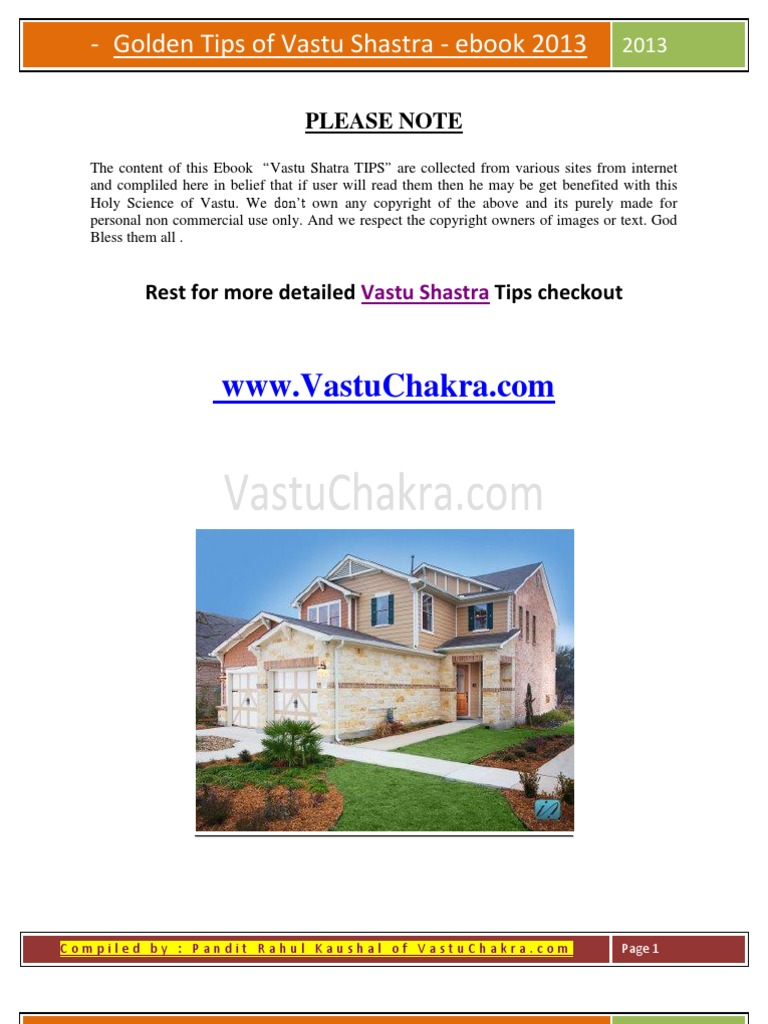 500 Free Vastu Shastra Tips for Home and Office : Health and Wealth ...