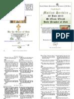 2013 -20 July - St Elias - Matins Service