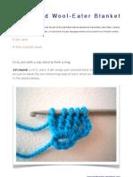Crocheted Wool Eater Blanket