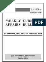 Weekly 7th Jan to 13th Jan 2013 Web