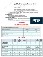 Prepaid Tariff bsnl 2013
