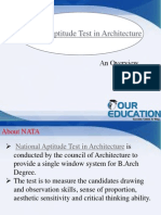 National Aptitude Test in Architecture,NATA