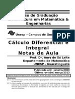 Apostila Completa de Cálculo Diferencial e Integral I