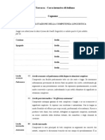 Questionario Di Competenza Linguistica