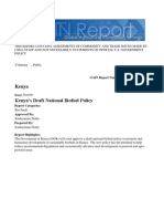 Kenya's Draft National Biofuel Policy