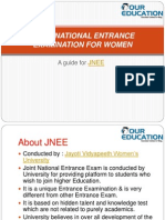 JVWU, JOINT NATIONAL ENTRANCE EXAMINATION FOR WOMEN