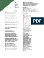 Lirik Lagu Budaya Membaca