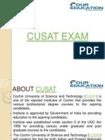 CUSAT Exam