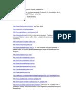 61275217 Lista de Sites Para Aprender Linguas Estrangeiras