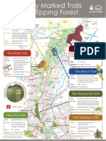 Official Epping Forest Essex Walks Location Map Poster 22 Nov 2012