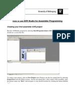 Guide First AVR Assembler Project
