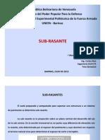 Sub-rasante y Cbr