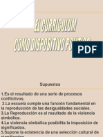 Curriculum Dispositivo Politico