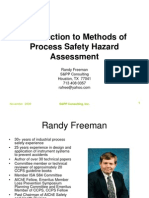 Introduction Methods of Process Hazard Assessment