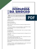 Revista Brasileira de Sociologia da Emoção - RBSE