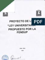 Proyecto Nueva Ley Universitaria