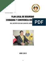 Plan Local de Seguridad Ciudadana 2013 Final