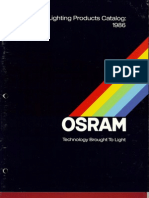 Osram General Lighting Products Catalog 1986