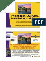 PrimeFaces Overview Setup Installation