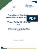 2012 Texas RE Implementation Plan 2012 REV NERC 05DEC2011