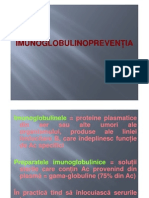 Stagiul III - Imunoglobuline