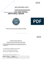 Concrete Crack and Partial-Depth Spall Repair
