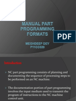 Manual Part Programming Formats
