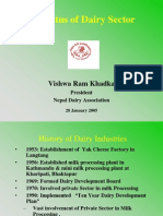 Status of Dairy Sector