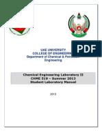 CHME 519 Manual_Summer 2013