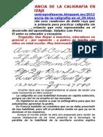 LA IMPORTANCIA DE LA CALIGRAFIA EN EL APRENDIZAJE.doc
