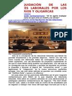 LA LIQUIDACIàN DE LAS RELACIONES LABORALES POR LOS EMPRESARIOS Y OLIGARCAS.doc