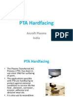 PTA welding and hardfacing