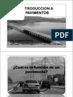 01.00 Introduccion a Pavimentos